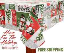 Christmas Snowman Table Cover Cloth Snowmen FESTIVE Holiday Decor FREE SHIPPING