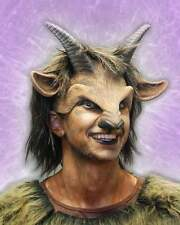 GOAT BOY MASK HEAD PIECE BEAST ANIMAL FANCY DRESS LARPING