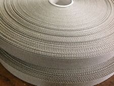 "Nylon Webbing 1"" TAN #499 IR A-A-55301  100 yards-mfg by K & W Webb"