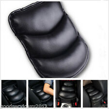One Pcs Black PU Leather Automobile Armrest Center Console Pad Mat Cushion Cover