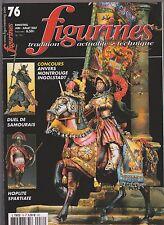 FIGURINES N°76 CARABINIERS CUIRASSES 1810-15 / SAMOURAIS / HOPLITE SPARTIATE