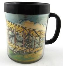 The Wright Brothers Thermal Coffee Cup Mug Insulated 1st in Flight Kitty Hawk
