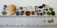 Useful Job Lot 50+ Mixed GEMSTONES from Scrap Silver/Gold Jewellery Repair #2