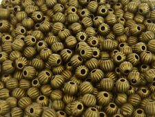 120 pce Etched Antique Bronze Round Spacer Beads 4mm