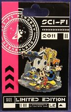 Disney DLR Sci-Fi Academy Kingdom Hearts King Mickey Donald Goofy HTF LE 500