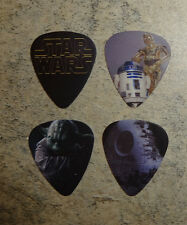 Set of 4 Star Wars SINGLE SIDED PICTURE GUITAR PICKs