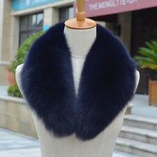 Women Warm100% Real Genuine Farm Fox Fur Collar Wrap Scarf Shawl Neck Graceful