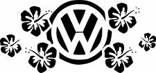 VW HIBISCUS FLOWERS  surf car JDM VW VAG EURO Vinyl Decal Sticker Skate