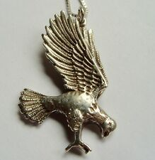 """Black Hills Silver Flying Egle Pendant and 24"""" 925 Box Chain"""