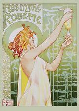 Absinthe Robette Poster! France Alcohol Livemont Jules Cheret Dorm Décor