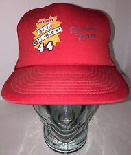 VTG Penrose Fire Cracker Red Trucker Hat Cap Snapback NASCAR Bobby Labonte 44