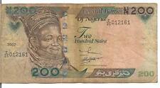 NIGERIA, 200 NAIRA,  P#29, 2002