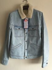 LEVI'S VINTAGE CLOTHING Blue Rise Sherpa Trucker Jacket Size M RRP £360