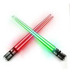 Chop Sabers Light Up LightSaber Chopsticks Set 2 Pairs Red Green Red & Green