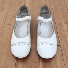 COMME DES GARCONS CDG Shoes Mary Jane Yamamoto Issey White Leather Sz 7.5/8