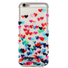 coloré Forme De Coeur Caoutchouc TPU Case étui For iPhone 6 Plus 5.5inch Pop
