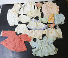 Lot of 17 vintage baby doll clothing underwear bonnets nightgown pants