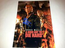 """DIE HARD 5 A GOOD DAY TO DIE HARD PP SIGNED POSTER 12""""X8"""" BRUCE WILLIS"""