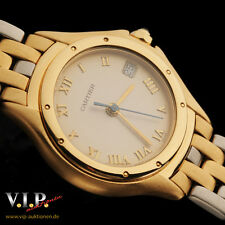 Cartier Panthere Cougar montre reloj fantastico 18k/750 Solid Gold & Steel Watch + Box