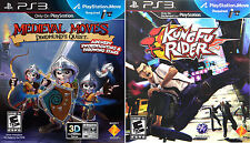 2 PS3 Games - Medieval Moves: Deadmund's Quest & Kung Fu Rider - Playstation 3