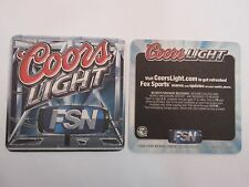 2006 COORS Brewing Company Beer BAR Coaster: Coors Light ~ Fox Sports Network
