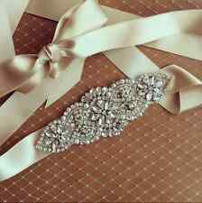 Vintage Bridal Sash Belt Crystal Bead Rhinestone Wedding Dress Ribbon (5.6*2""