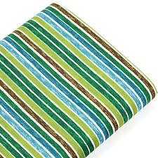 FQ. 5mm Multi-Coloured Stripe Vintage Retro Look Pirate Candy Cotton Fabric VA73