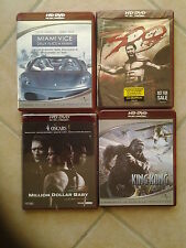 23258// LOT 4 HD DVD 300 + KING KONG + MIAMI VICE + MILLION DOLLARD BABY EN TBE