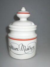 Porcelaine d'Auteuil Paris French Bistrot Confiture Maison orange Decor unused !