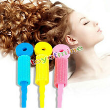 3Pcs Hair Curlers Twist Spiral Circle Magic Rollers Styling Tool HOT