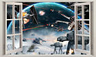 3D Star Wars Window View Removable Wall Sticker Boys Nursery Decor Decal Mural