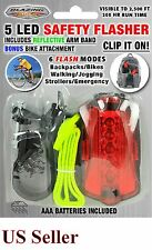 Safety Flasher for Bikes, Runners with Light, Arm Band and Bike Attachment NEW