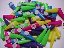 "2 1/2"" PLASTIC KAZOOS LOT OF 144 , CARNIVAL, PARTY TOYS  FAVORS ASSORTED COLORS"