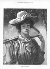 Tennis - The First Day of the Season  - Women's Tennis -  1891
