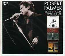 "ROBERT PALMER  "" SECRETS/CLUES & MAYBE IT'S LIVE ""  2 CD SET"