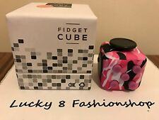 SALE NY SHIP Fidget Cube For Anxiety Stress Relief Focus Toy Pink Camouflage