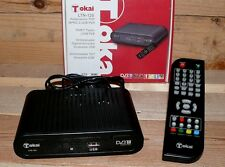 DVB-T Receiver Tokai LTN120 Mini TV Tuner PVR USB MPEG TV Guide FB Scart Schwarz