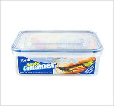 4x Clip Lock Airtight Recta Kitchen Food Storage Container Plastic Box 1.5L ZOOM