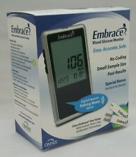 Embrace Talking Blood Glucose Monitor No Coding English/Spanish by Omnis