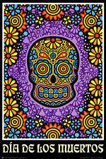 Dia de los Muertos Day of the Dead Art Poster Print Poster Print, 24x36
