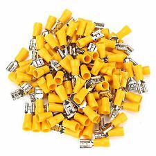 A pack 12-10AWG Yellow Vinyl Quick Connector Terminals Female Electrical Crimp