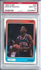 1988 Fleer Basketball #43 Dennis Rodman Rookie Card PSA 10 Gem Mint