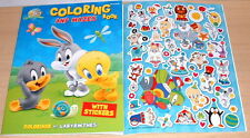TV Cartoon Baby Looney Tunes Coloring & Activity Book with Stickers Lot (2) NEW
