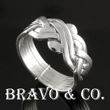 SIZE 8 Bravo & Co. Hallmark 925 Sterling Silver 6 pieces PUZZLE Men Ring R-099