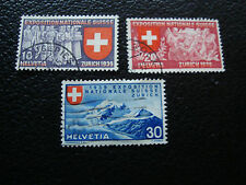 SUISSE - timbre yvert et tellier n° 320 a 322 obl (A20) stamp switzerland