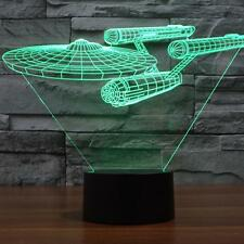 Colorful 3D Battle ships Touch Lamp LED Lights Vision Home Decoration Lights