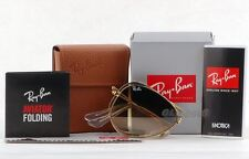 Ray-Ban 3479 RB3479  001/51 Folding Aviator Gold/Brown Gradient  58mm Sunglasses
