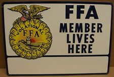 Vintage 1950`s 60`s FFA Embossed tin sign # 4A