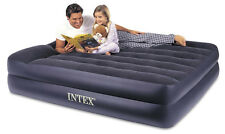 Intex Pillow Rest Queen Airbed with Built-in Electric Pump Air Bed Mattress NEW!