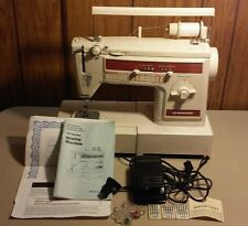 Vtg Dressmaker Poland SEWING MACHINE Zig Zag MODEL 300Z & Pedal + Extras WORKS